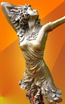 "ART DECO, COLINET "" SUN DANCER "", BRONZE STATUE"